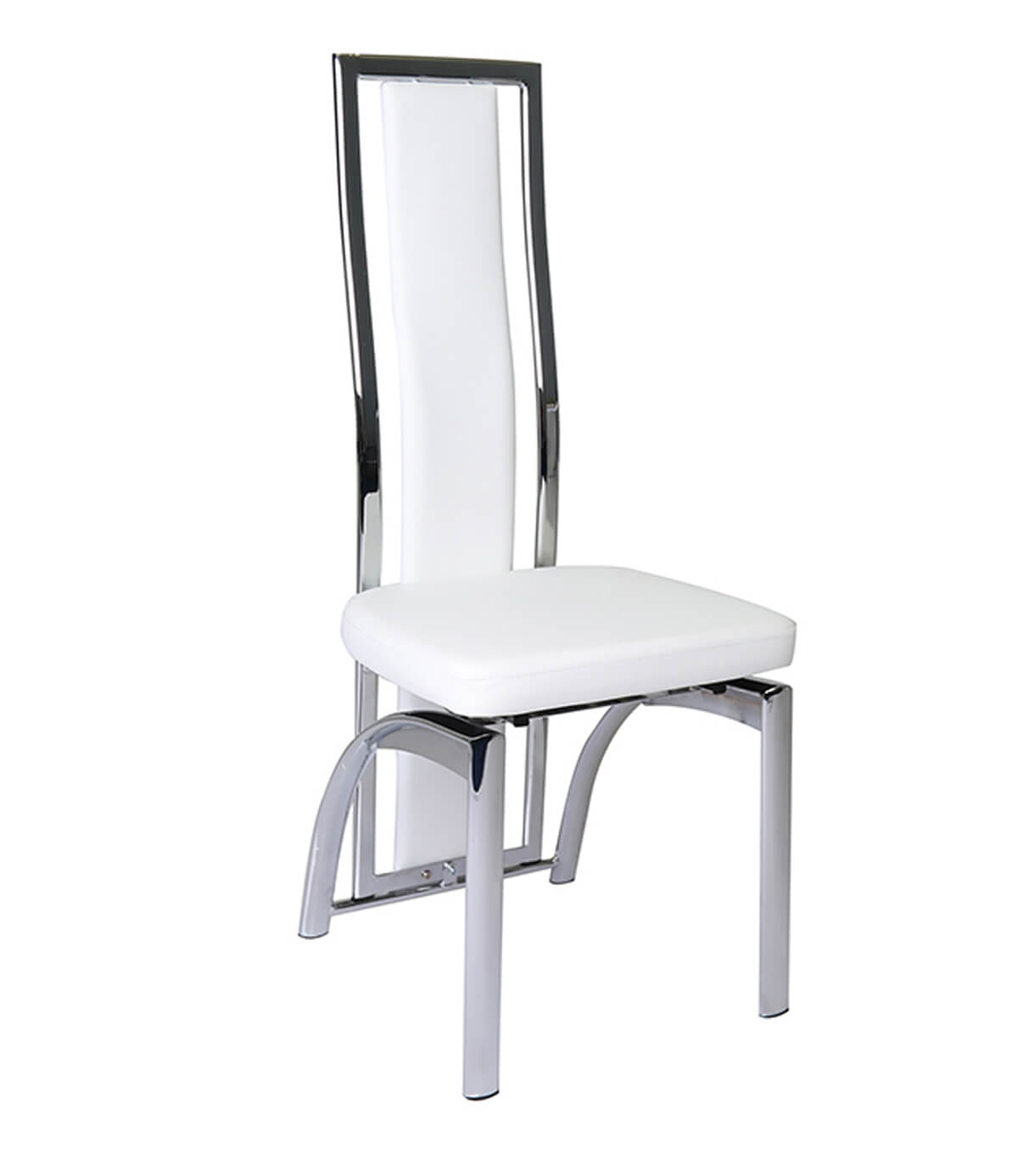 White high back dining chairs italian upholstered high for White leather dining chairs