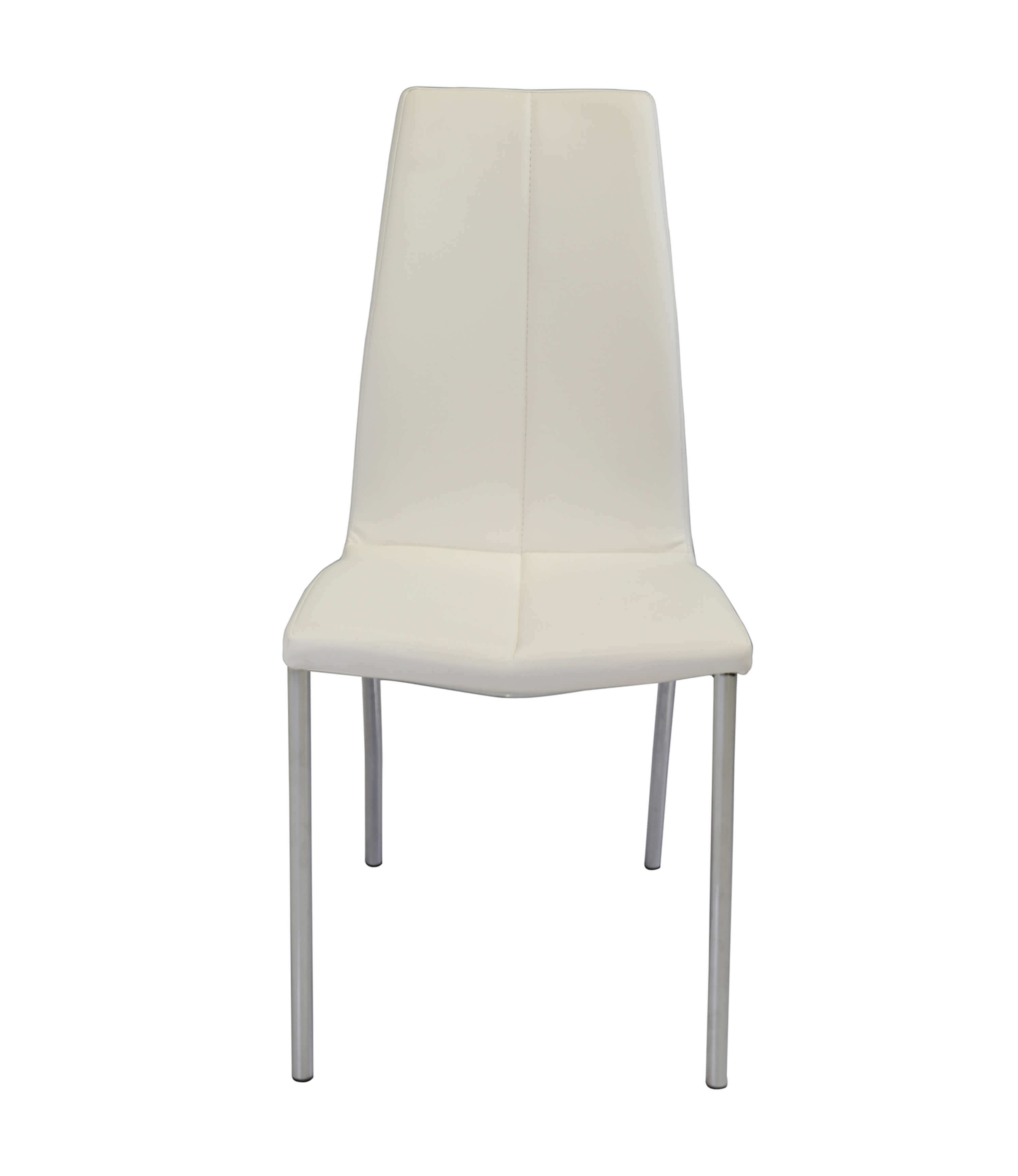 Boston white leather dining chair manchester furniture for Modern white leather dining chairs