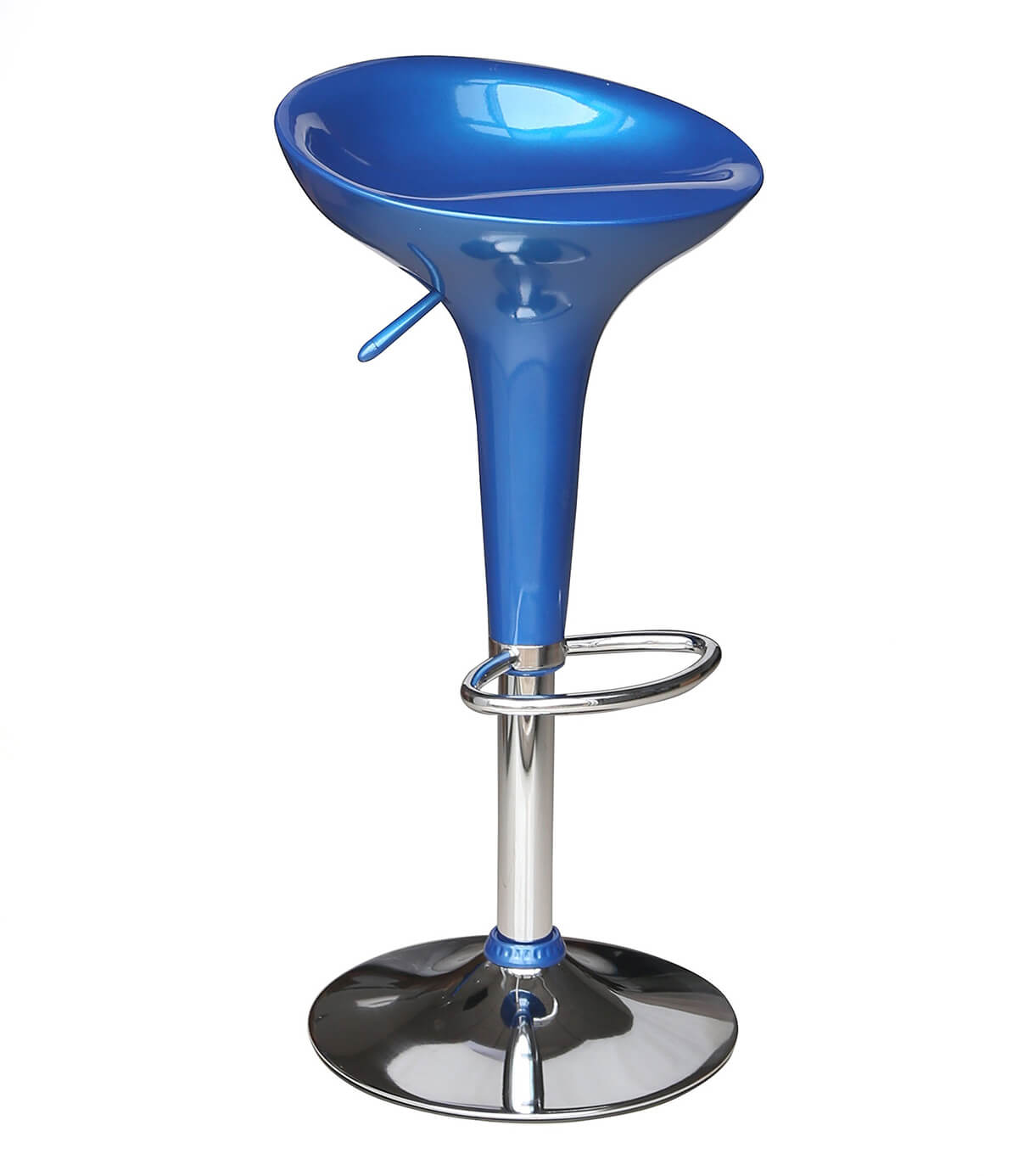 Classic Gas Lift Kitchen and Breakfast Bar Stool Blue
