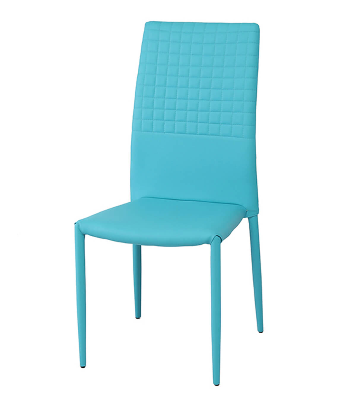 Cuba Aqua Blue Modern Faux Leather Dining Chair
