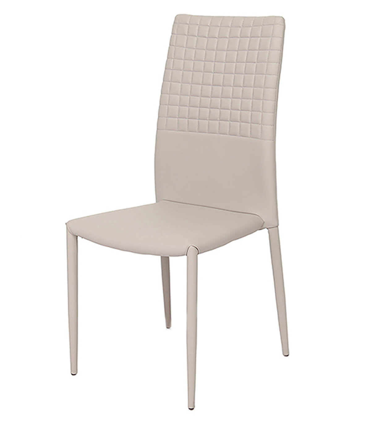 Cuba Mink Grey Modern Faux Leather Dining Chair