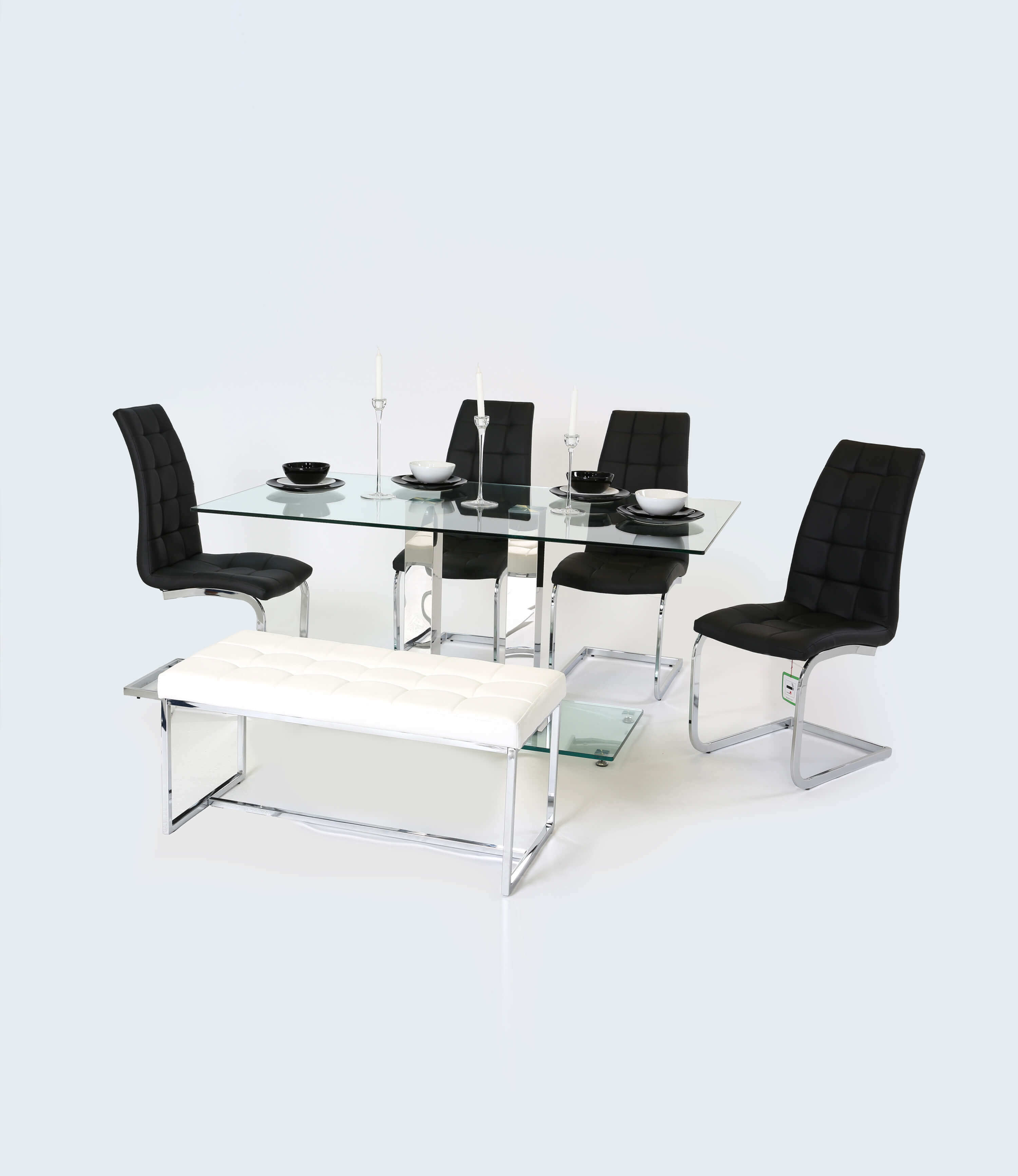 Holly Clear Glass Dining Table 160 CM Manchester  : HollyClearGlassTopandChromeModernDiningTable160CM from www.manchesterfurnituresupplies.co.uk size 3000 x 3466 jpeg 149kB