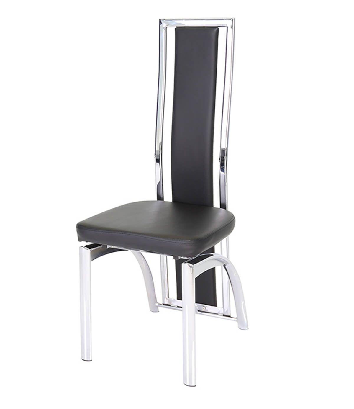 Mayfair black leather dining chair manchester furniture for Leather back dining chairs