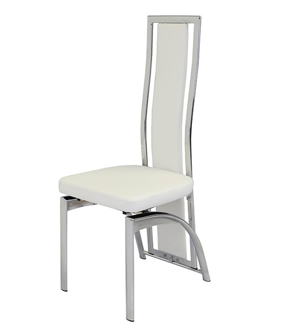 Mayfair White Leather Dining Chair - Manchester Furniture ...