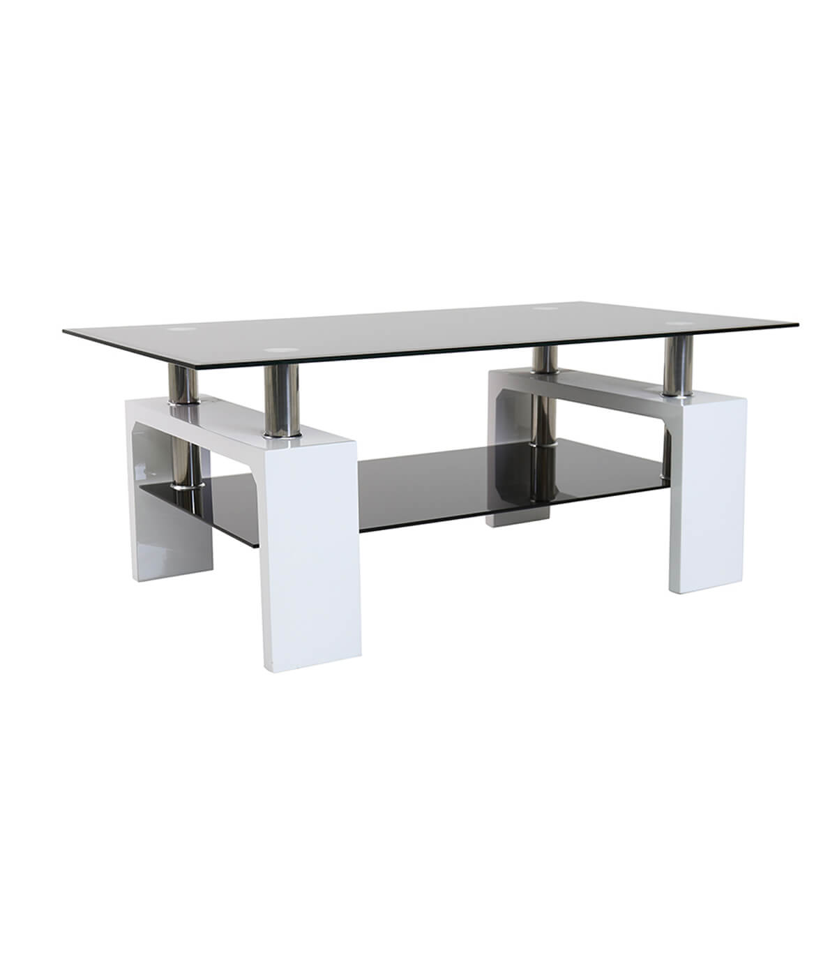 Annika White Gloss Coffee Table: Metro High Gloss Coffee Table White