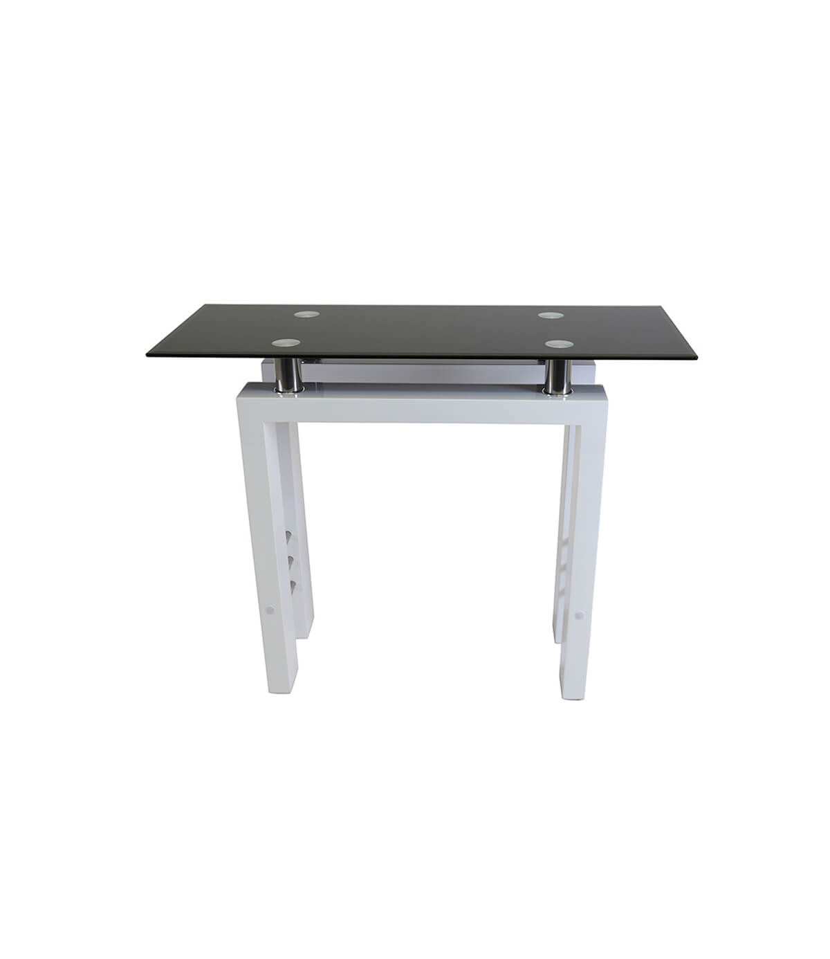 Metro High Gloss Console Table White Manchester