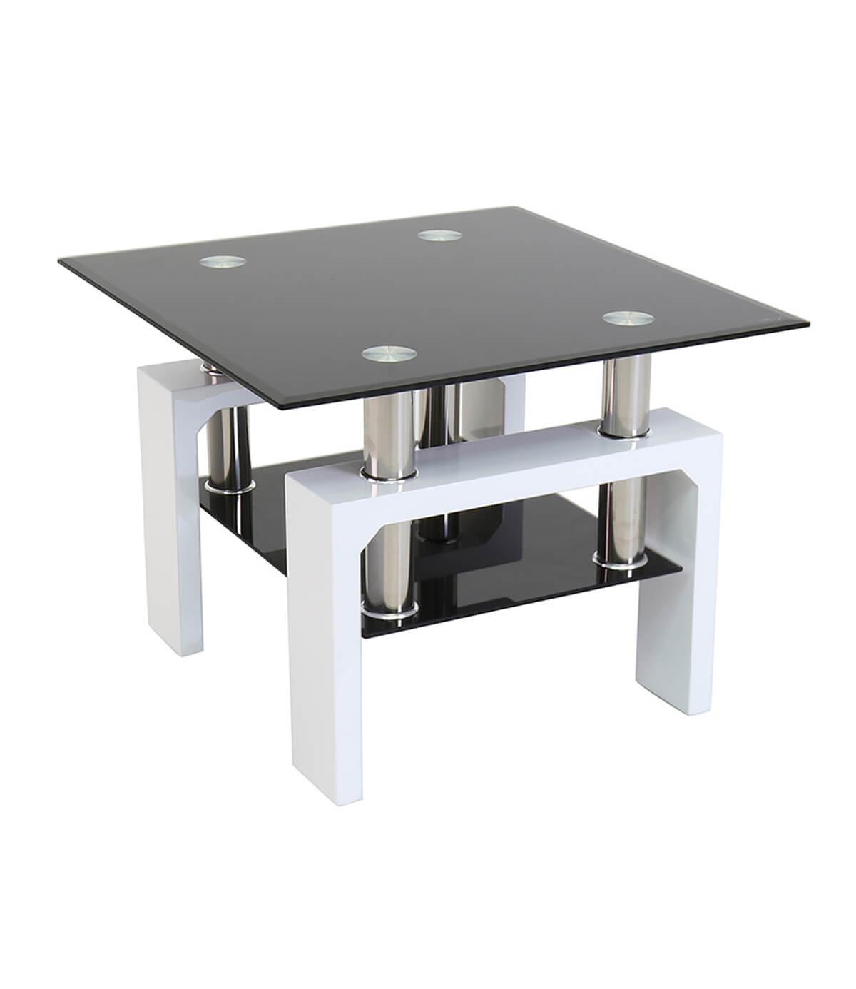 Metro High Gloss Side Table White Manchester Furniture