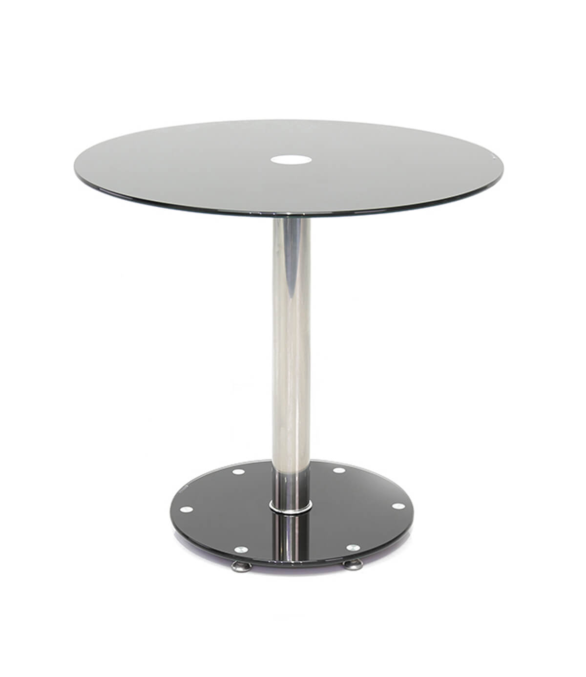 parma black round glass small dining table 80 cm manchester furniture supplies. Black Bedroom Furniture Sets. Home Design Ideas