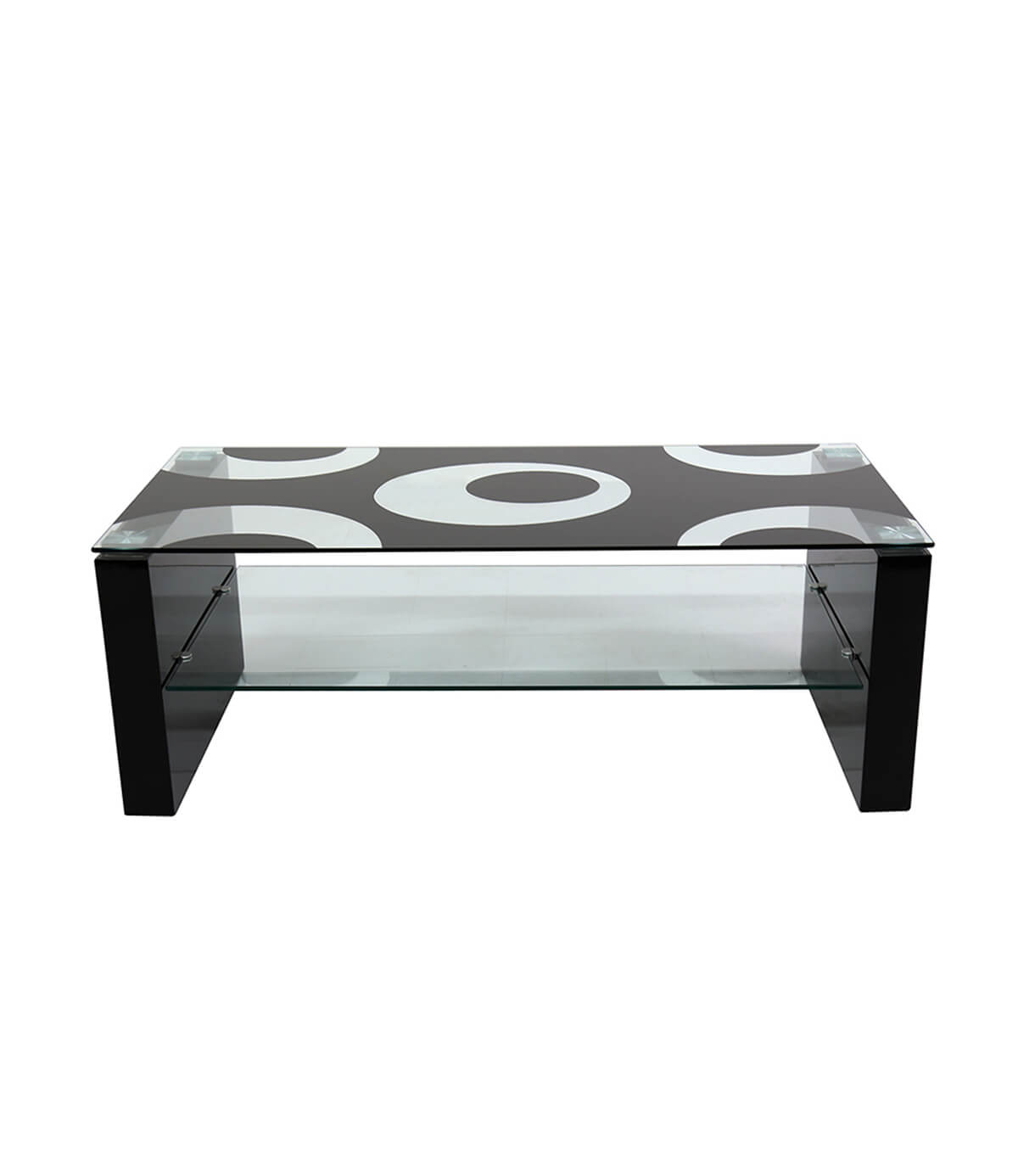 Rome Black High Gloss Black Glass Coffee Table