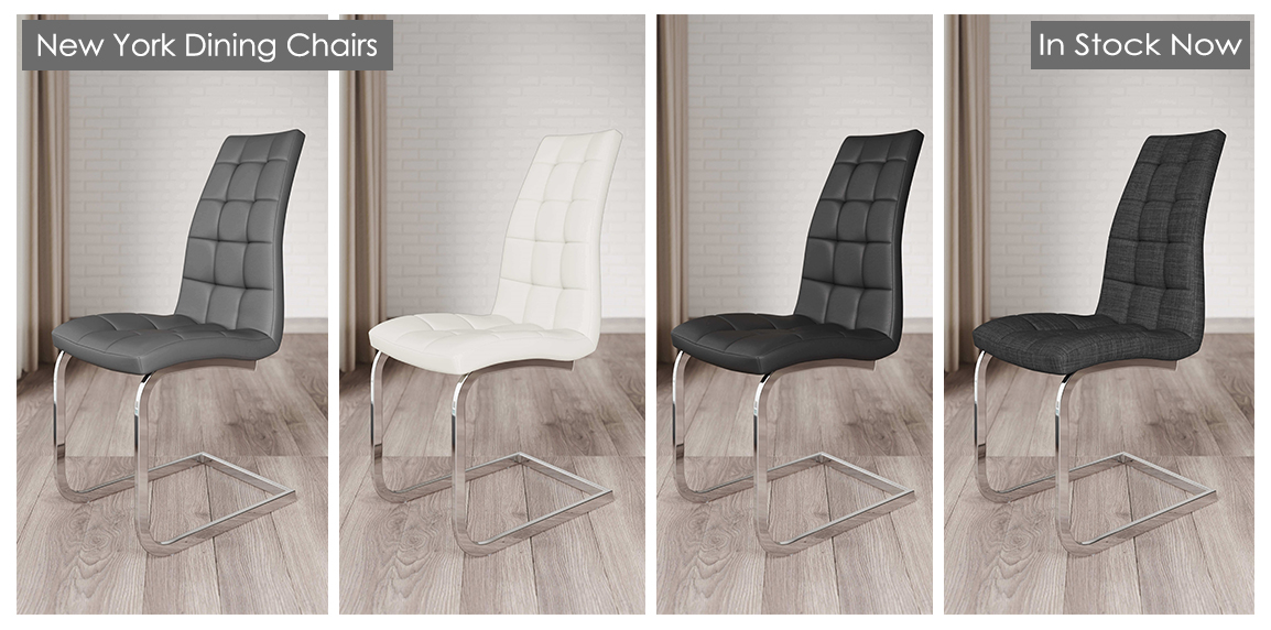 New York Faux Leather Dining Chairs
