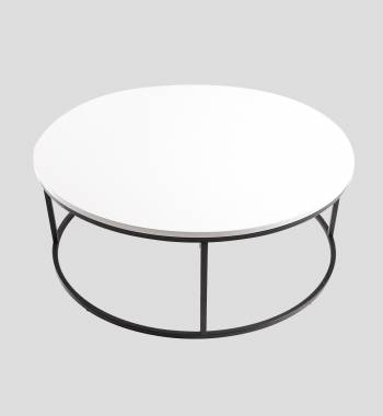 Louis High Gloss Round Coffee Table White
