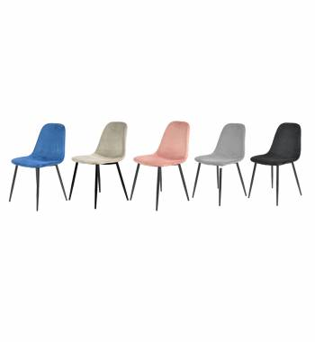 Alpine Modern Plush Velvet Dining Chair