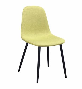 Alpine Lime Dining Chair With Black Legs