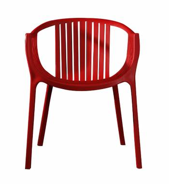 Arc Red Dining Chair