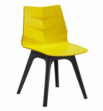 Arrow Yellow Dining Chair