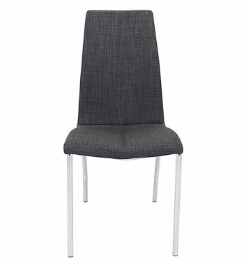 Boston Charcoal Faux Leather Modern Dining Chair