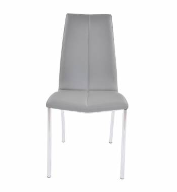 Boston Faux Leather Modern Dining Chair (New Grey)