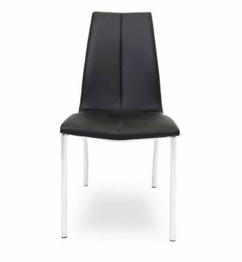 Boston Faux Leather Modern Dining Chair Black