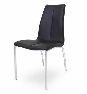 Boston Faux Leather Modern Dining Chair (Black)