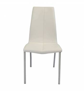 Boston Faux Leather Modern Dining Chair (White)