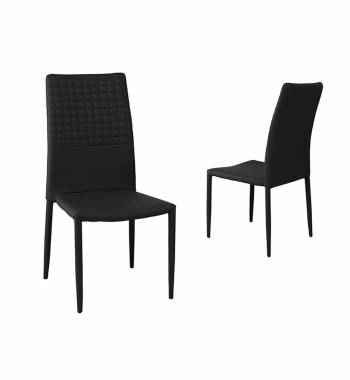 Cuba Black Faux Leather Modern Dining Chair