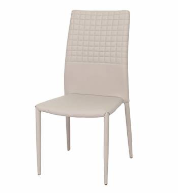 Cuba Mink Grey Faux Leather Modern Dining Chair
