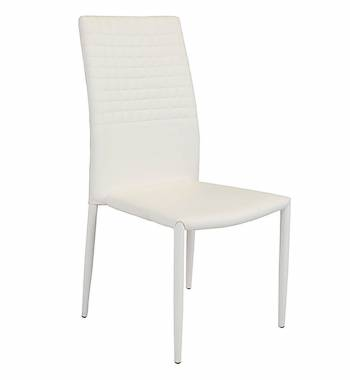 Cuba Modern Faux Leather Dining Chair White Manchester Furniture