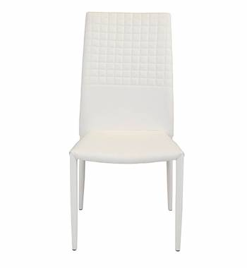 Cuba White Faux Leather Modern Dining Chair