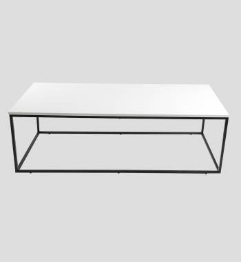Louis Rectangle High Gloss Coffee Table White