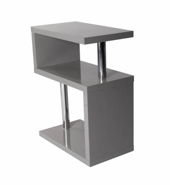 Miami 3 Tier Grey High Gloss Shelving Unit