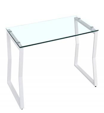 Kendal Clear Glass White Coffee Table