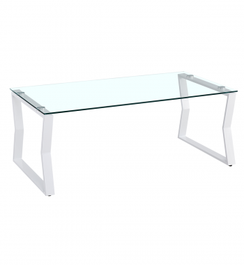 Kendal Tempered Glass Coffee Table White