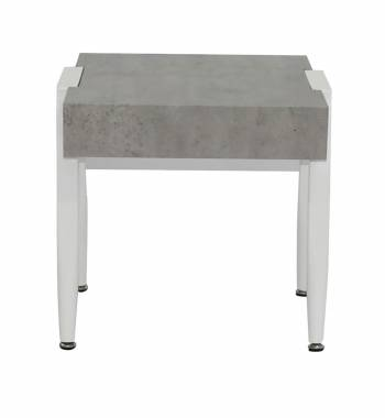 Madison Grey & White Side Table