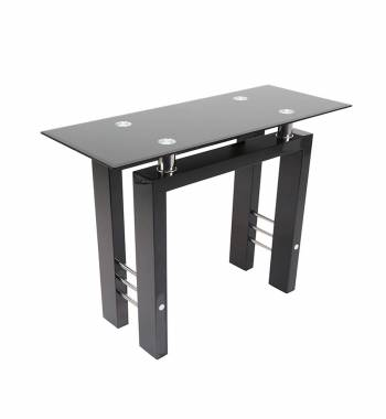 Metro Black High Gloss Console Table