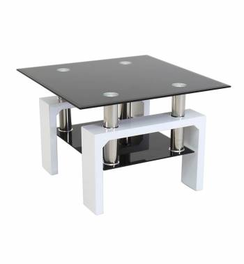 Metro White High Gloss Side Table