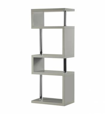 Miami Grey Gloss 5 Tier Shelving Unit