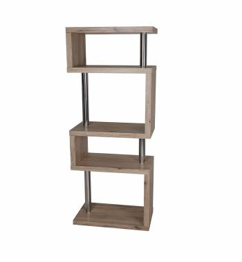 Miami Ash Wood 5 Tier Shelving Unit