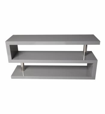 Miami Modern High Gloss Grey TV Stand Unit