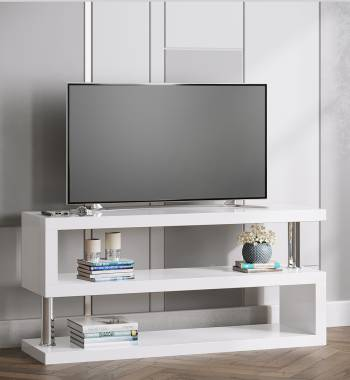 Miami White Gloss Modern TV Stand Unit