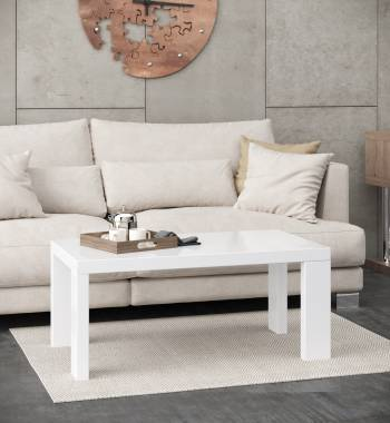 Miami White High Gloss Coffee Table