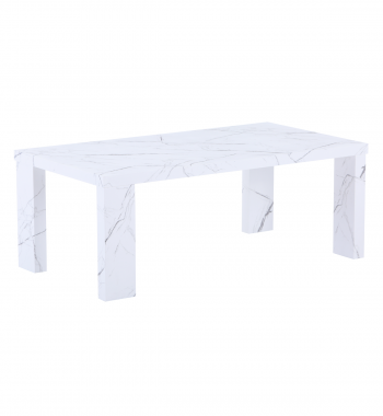 Miami Coffee Table White Marble Veneer