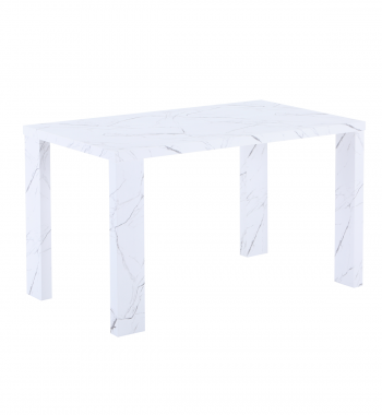 Miami 120cm Dining Table White Marble Veneer