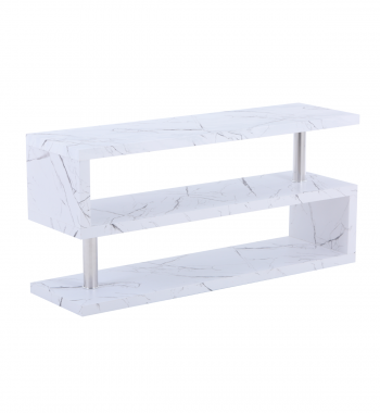 Miami TV Stand White Marble Veneer
