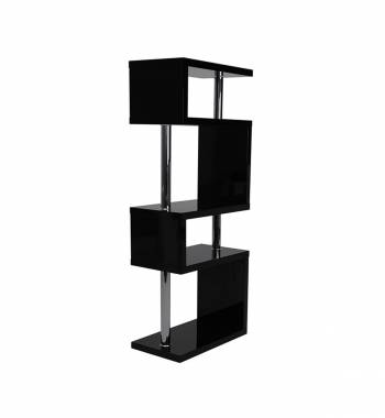 Miami Black Gloss 5 Tier Shelving Unit