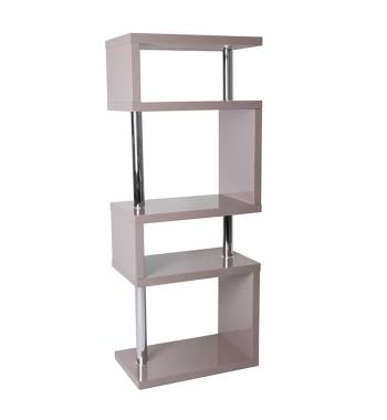Miami Mink Grey High Gloss 5 Tier Shelving Unit