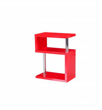 Miami Red High Gloss 3 Tier Shelving Unit