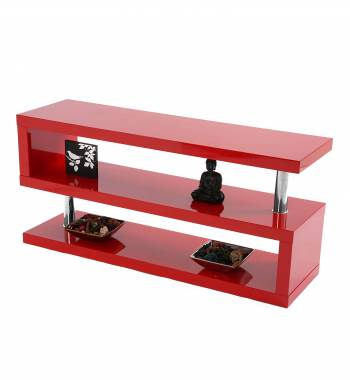 Miami Red High Gloss Modern TV Stand Unit - Manchester Furniture ...