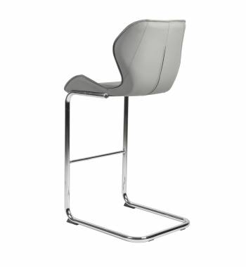 Milano Faux Leather and Chrome Breakfast Bar Chair New Grey