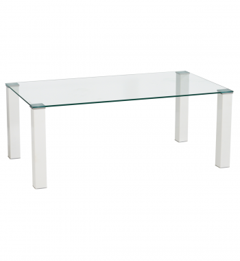 Milano Tempered Glass Coffee Table White