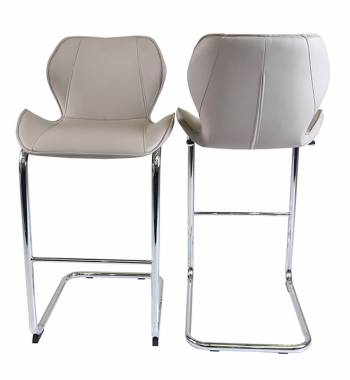 Milano Faux Leather and Stool Mink Grey